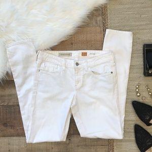 Pilcro Anthropologie White Denim Pants Size 27